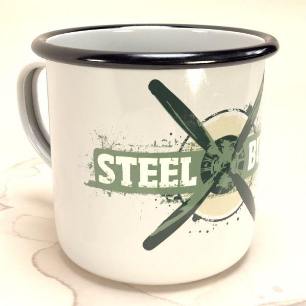 """Steel Buddies Emaille-Becher """"Propeller"""""""