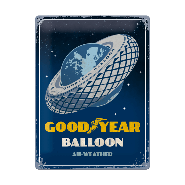"Goodyear Blechschild ""Balloon"""