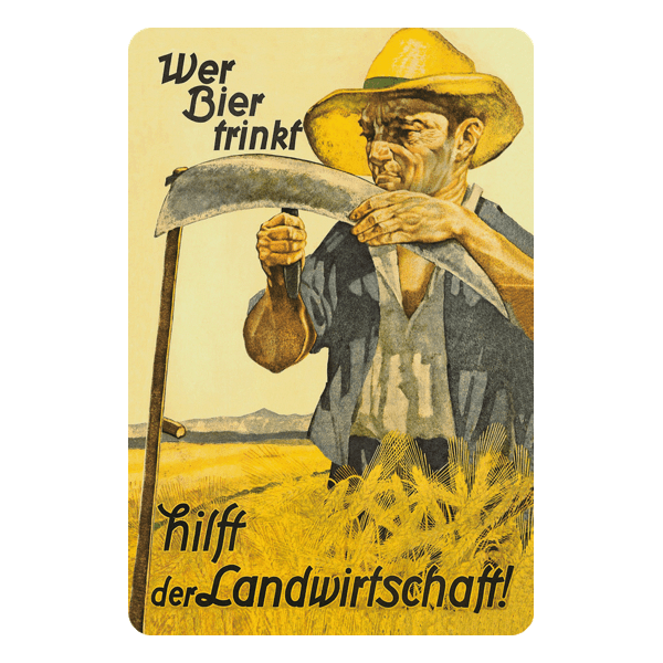 """Blechschild """"Landwirtschaft"""""""