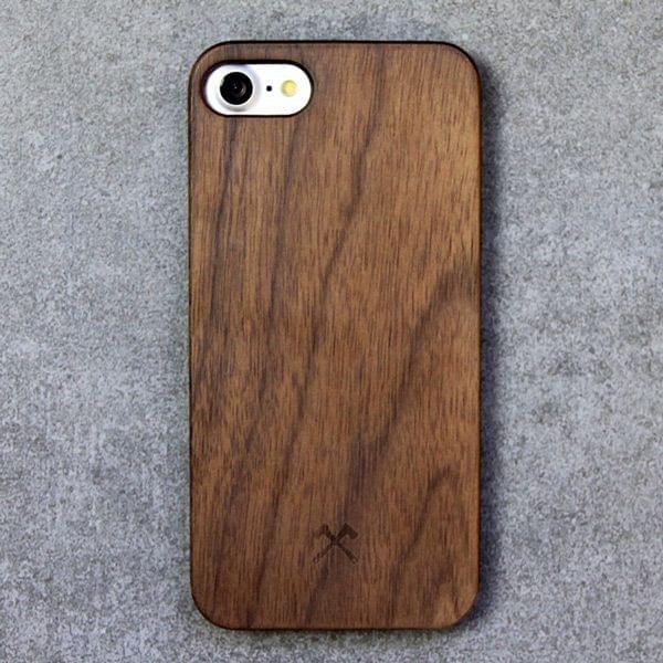 iPhone Klick-in-Schutzhülle aus Walnussholz
