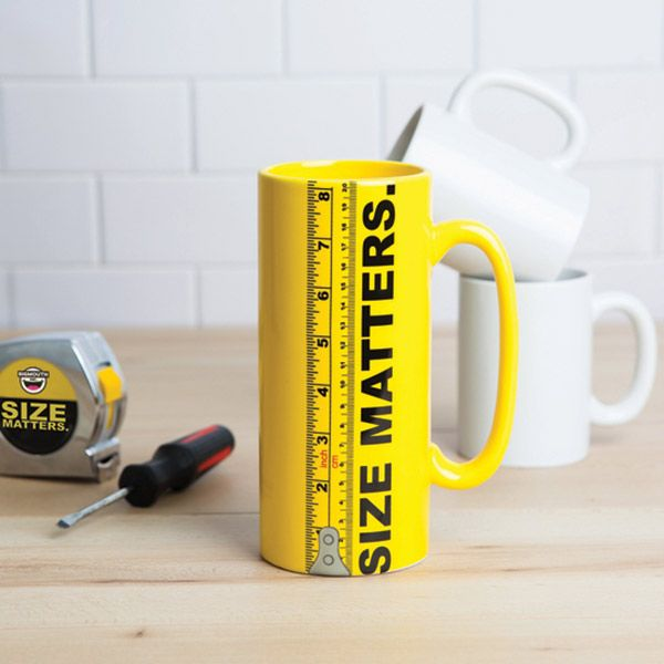 "Riesengroße Kaffeetasse ""Size Matters"""
