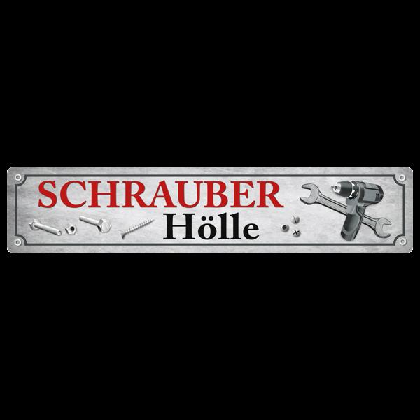 """XXL-Straßenschild """"Schrauber Hölle"""""""