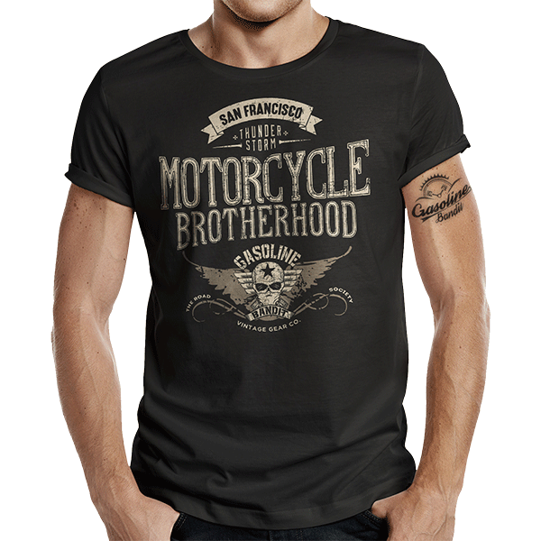 "T-Shirt ""Motorcycle Brotherhood"" von Gasoline Bandit"