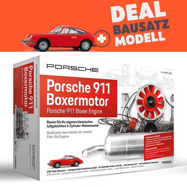 "Motor-Bausatz ""Porsche 911 Boxermotor"" plus Exklusiv-Modell"