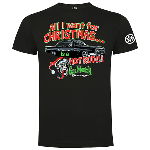 "Gas Monkey Garage X-Mas T-Shirt ""All I want for Christmas"""