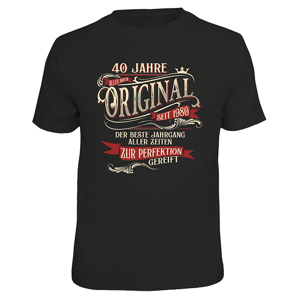 """T-Shirt """"Original seit 1980"""""""
