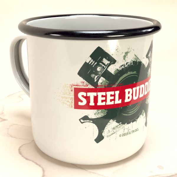 "Steel Buddies Emaille-Becher ""Logo"""