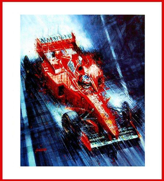 Michael Schumacher - Regensieg Monaco GP 1997 (Kunstdruck)