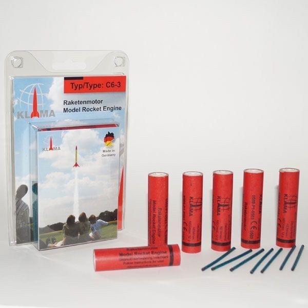 Treibsätze für Raketenauto (6er Pack)