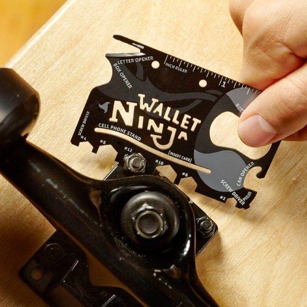 """18-in-1 Kreditkarten Multitool """"Wallet Ninja"""""""