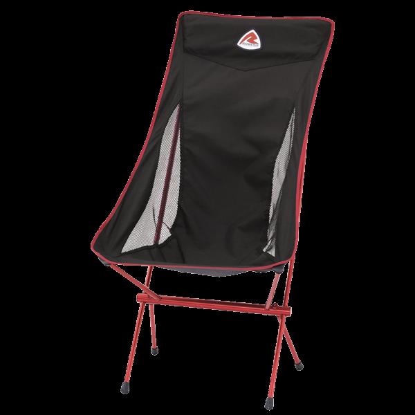 Komfortabler Campingstuhl mit hoher Lehne