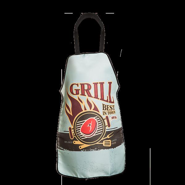 "Grill- und Kochschürze ""Best grill in town"""