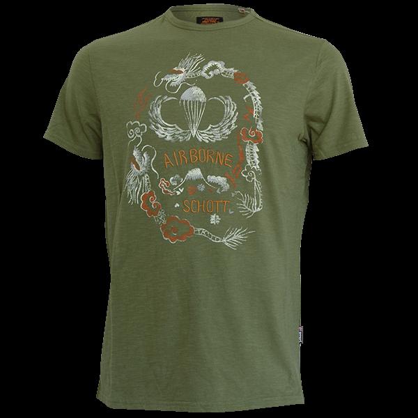 """T-Shirt """"Airborne"""" von Schott NYC"""
