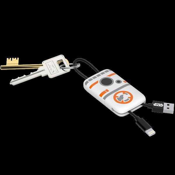 """Star Wars Schlüsselanhänger mit Ladekabel """"BB8"""""""