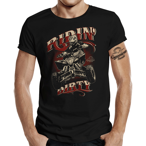 "T-Shirt ""Quad Riding"" von Gasoline Bandit"