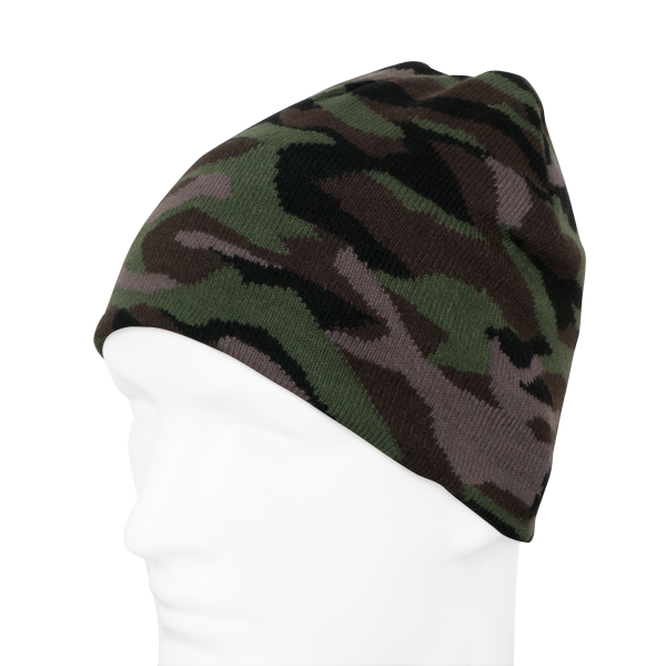 "Wendebeanie ""Camouflage/Orange"""