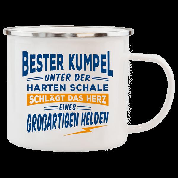 """Emaille-Becher """"Bester Kumpel"""""""