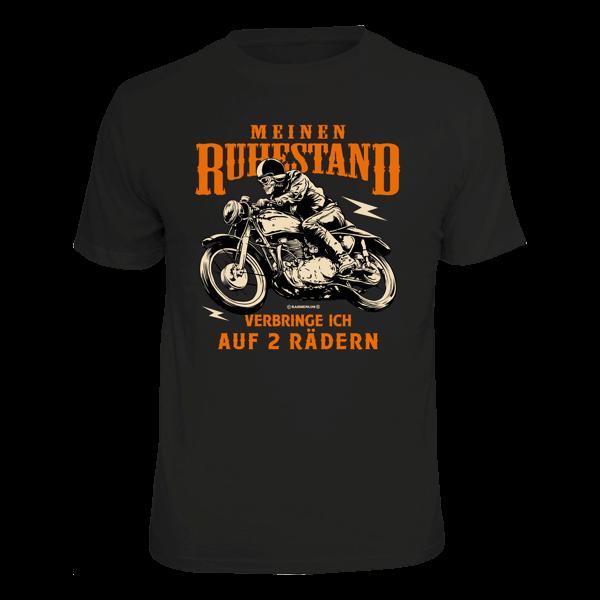 """T-Shirt """"Ruhestand auf zwei Rädern"""""""