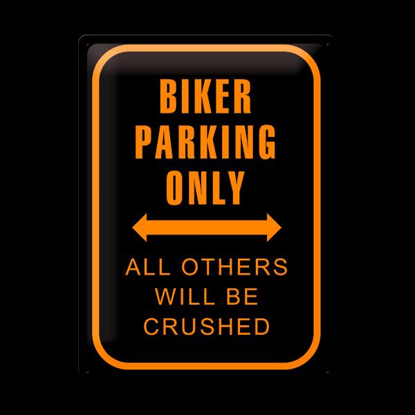 """Blechschild """"Biker Parking Only"""" 30 x 40 cm"""