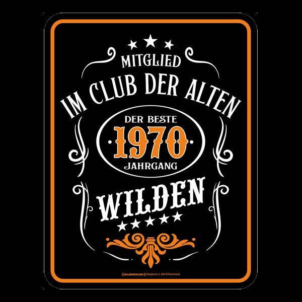 """Blechschild """"Alte Wilde 1970"""""""