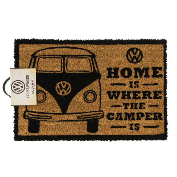 "Fußmatte VW Bulli ""Home is where the Camper is"""