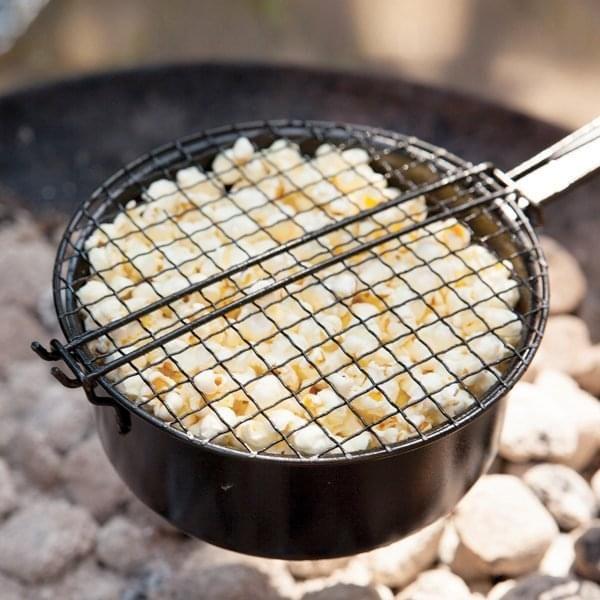 Outdoor Popcorn-Pfanne aus Eisen