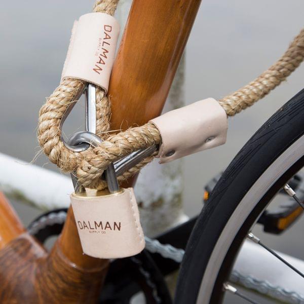 "Fahrradschloss ""Natural Rope"" mit Vorhängeschloss"