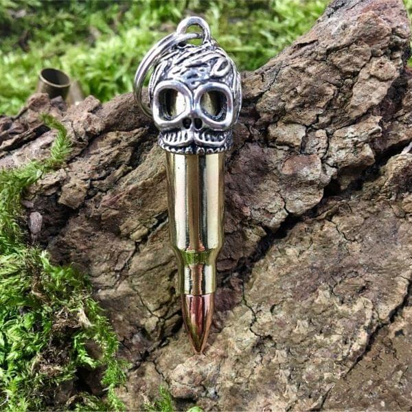 """Schlüsselanhänger """"Bullet & Skull"""""""