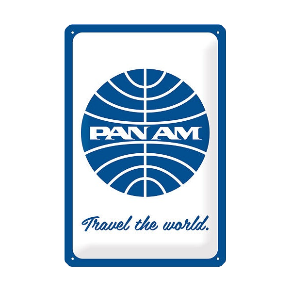 """Blechschild """"Pan Am"""""""