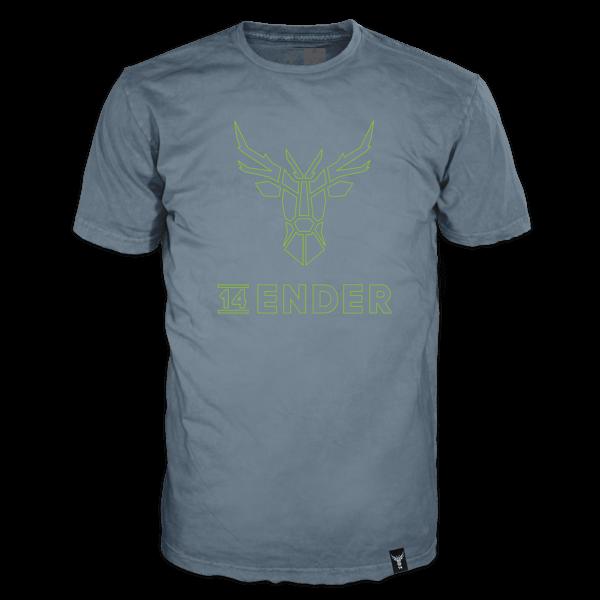"T-Shirt ""14 Ender"" mit 3D-Print"