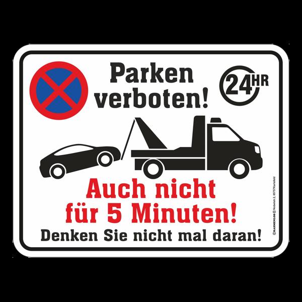 """Blechschild """"Parken verboten!"""""""