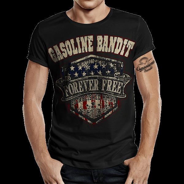 """T-Shirt """"Forever Free"""" von Gasoline Bandit"""