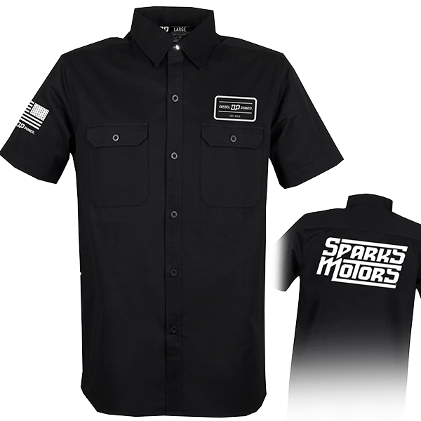 """Diesel Power Gear Work Shirt """"Sparks Motors"""""""
