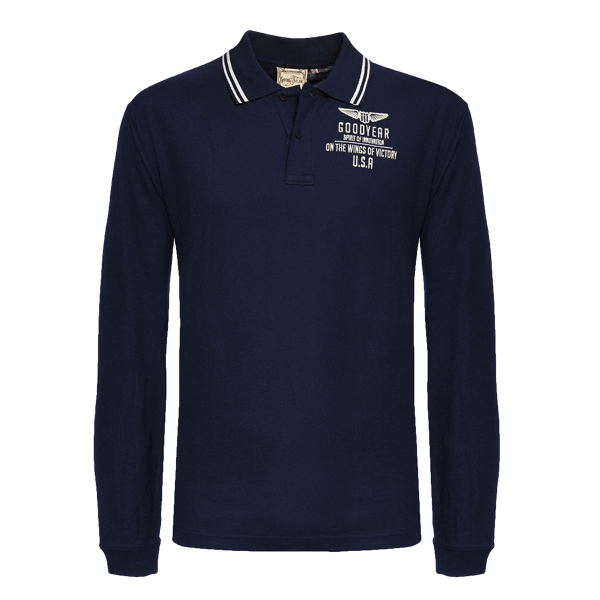 "Goodyear Langarm-Poloshirt ""Wings of Victory"""