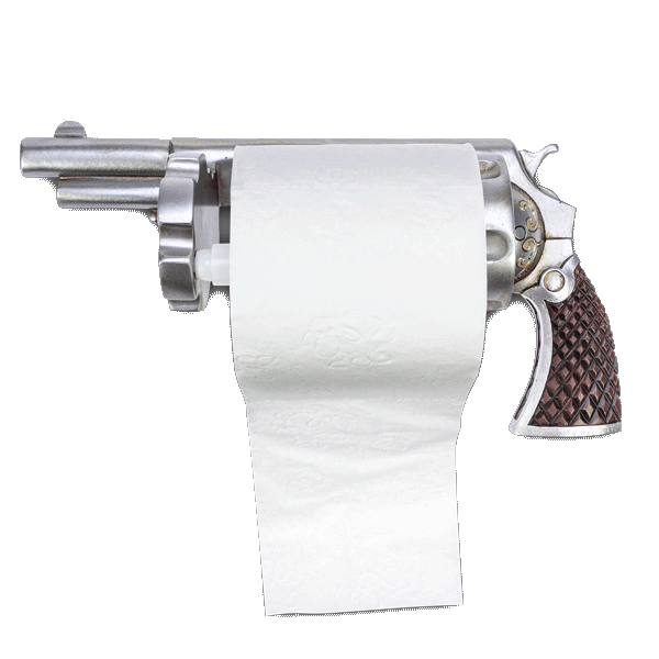 "Toilettenpapierhalter ""Revolver"""