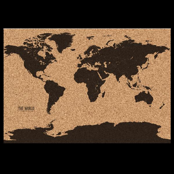 Kork Weltkarte