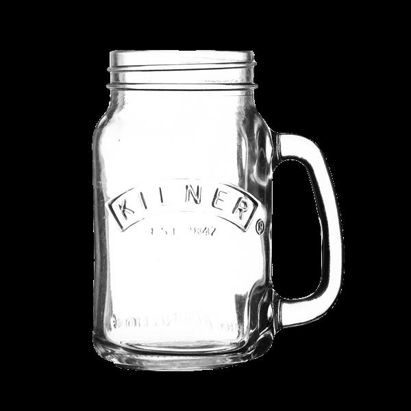 """Trinkglas """"Kilner Jar"""" mit Henkel"""