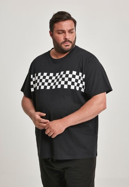 "T-Shirt ""Check Panel"" von Urban Classics"