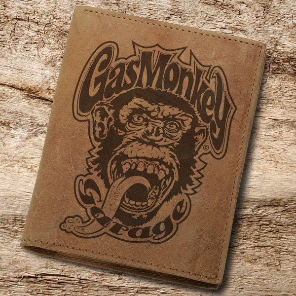 Gas Monkey Garage Geldbörse aus Hunterleder