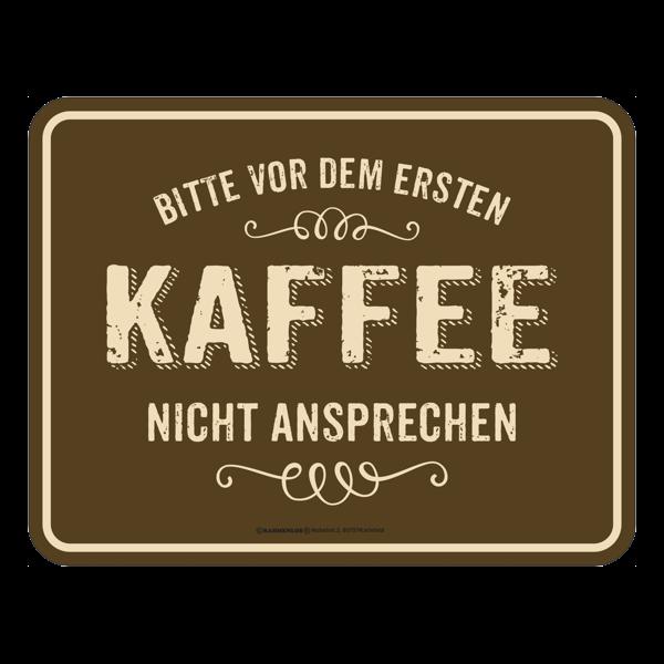 """Blechschild """"Kaffee"""""""