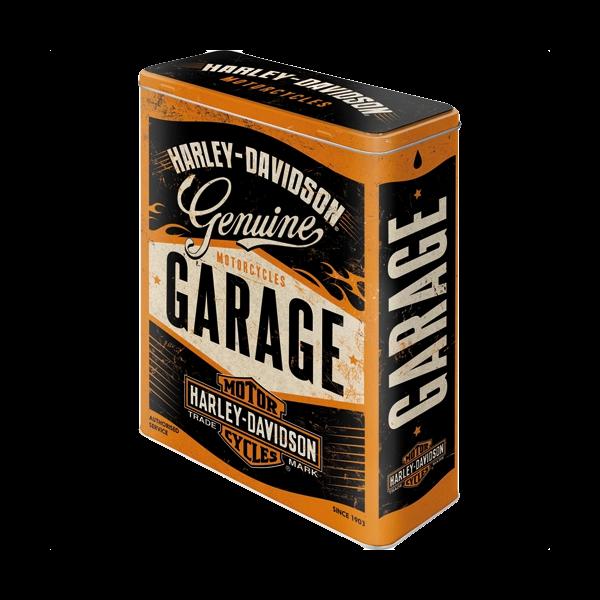 "Große Blechdose ""Harley-Davidson Garage"""