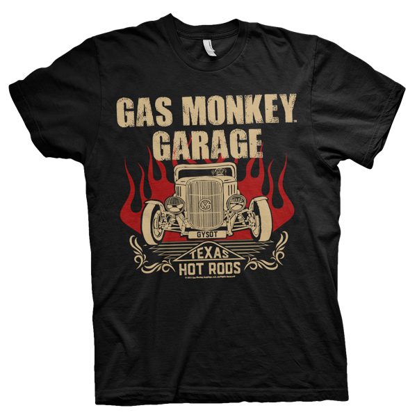 "Gas Monkey Garage T-Shirt ""Texas Hot Rods"" (bis 4XL)"
