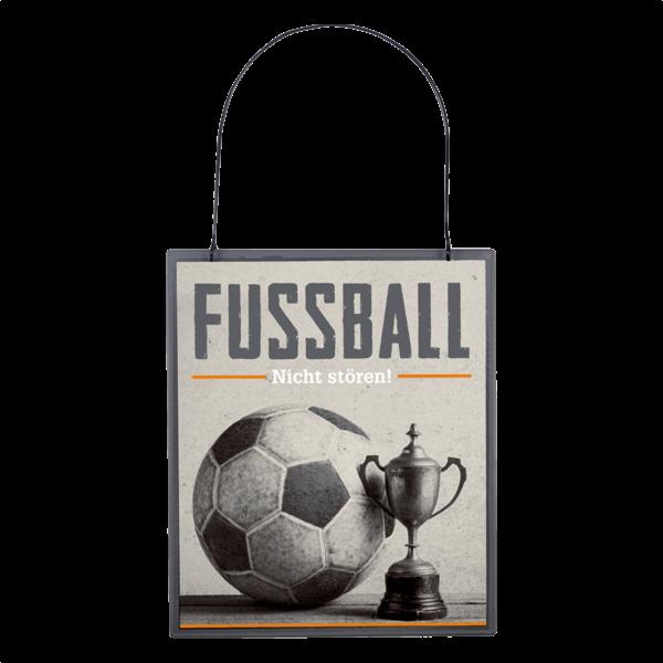 """Metallschild """"Fussball - Nicht stören!"""""""