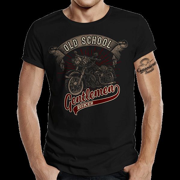 "T-Shirt ""Oldschool Gentlemen"" von Gasoline Bandit"