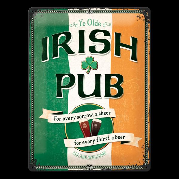 """Blechschild """"Irish Pub"""""""