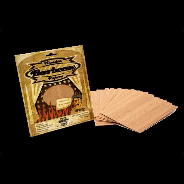 Grillpapier aus 100% Hickory oder Cedar Holz