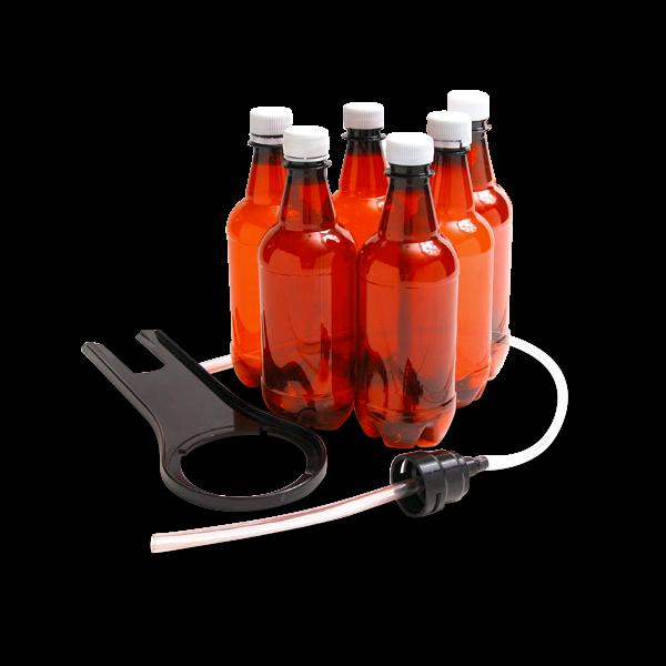 """Abfüllvorrichtung mit 6 PET-Flaschen für """"The Beer Machine"""""""