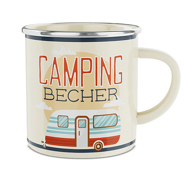 "Emaille-Becher ""Camping"""