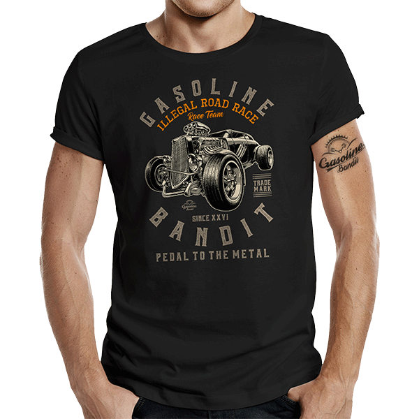 "T-Shirt ""Road Race"" von Gasoline Bandit"