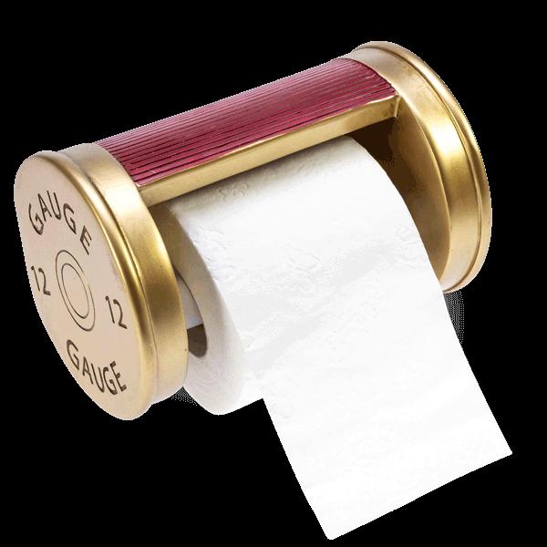 """Toilettenpapierhalter """"Schrotpatrone"""""""